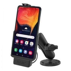 Station d'accueil RAM ® pour Samsung XCover Pro avec bras standard et base ronde boule B