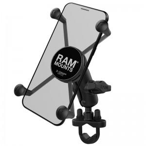 """Support de guidon avec berceau de smartphone X-Grip® universel UN10 entre 5 et 7"""""""