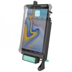 Berceau d'accueil sécurisé pour véhicule GDS® avec câble audio pour Samsung Tab A 8.0 de 2018 (SM-T387)