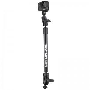 Ensemble de fixation pour caméra, de 55,88 cm, avec une fixation T pour rail