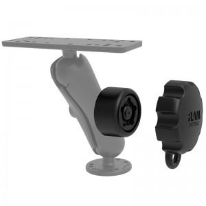 Molette de sécurité Pin-Lock™ avec motif à 5 broches pour bras à boule B