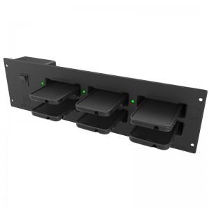 Module de charge GDS ® à 6 ports encastrable dans une armoire pour téléphones équipé d'une coque IntelliSkin ®