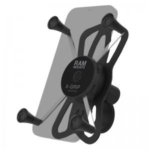 Support guidon RAM Tough-Strap™ avec berceau X-Grip® UN10 pour smartphone grande taille