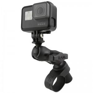Support guidon RAM Tough-Strap™ avec adaptateur pour GoPro et autres caméras d'action