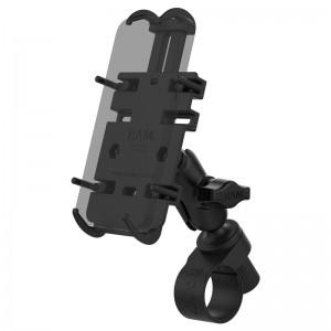 Support guidon RAM Tough-Strap™ avec berceau Quick-Grip™ pour smartphone