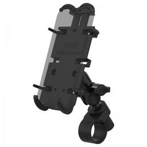 Support guidon RAM Tough-Strap avec berceau Quick-Grip™ XL  pour smartphone grande taille